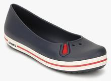 d9839c2cc3bc77 Crocs Crocband Flat Navy Blue Belly Shoes for women - Get stylish ...