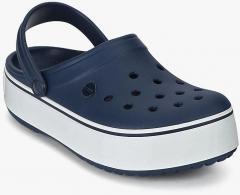 58d6cb360032c Crocs Crocband Platform Navy Blue Clogs for women - Get stylish ...