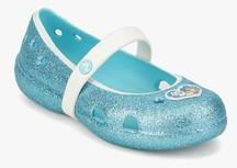 80e65f725aad Crocs Frozen Flat Pool Blue Glitter Belly Shoes for girls in India ...