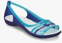 3512ed65c Crocs Isabella Huarache Blue Sandals for women - Get stylish shoes ...