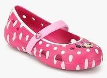 c7adfa0e2249 Crocs Keeley Minnie Flat Pink Belly Shoes for girls in India - Buy ...
