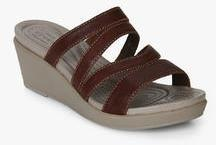 556653081acc Crocs Leighann Mini Brown Wedges for women - Get stylish shoes for ...
