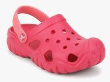Crocs Swiftwater Pink Clogs boys