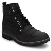 Gas Dean Black Boots For Men Online In India At Best Price On 10th February 2018 | PriceHunt