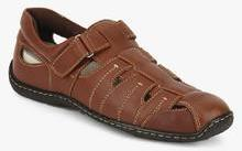 e54117bed Hush Puppies Oily Fisherman Brown Sandals for Men online in India at ...