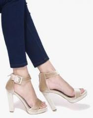 fceb64e479697 Jove Beige Ankle Strap Sandals for women - Get stylish shoes for ...