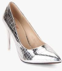 040fd858113 Jove Silver Metallic Stilettos for women - Get stylish shoes for Every  Women Online in India 2019