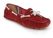 8899fe4aac640 La Briza Pradera Red Moccasins for women - Get stylish shoes for ...