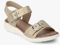 18a39dea10b Lee Cooper Memory Foam Beige Buckled Sandals for women - Get stylish ...