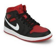 8bfb060eb887 Nike Air Jordan 1 Mid Black Basketball Shoes for Men online in India ...