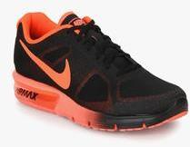 online store 0f9eb c7cb0 Nike Air Max Sequent Black Running Shoes men