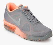 free shipping d018c 0b2e3 Nike Air Max Sequent Grey Running Shoes women