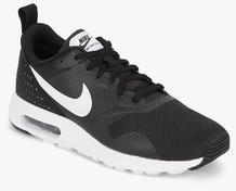 online store 05b22 a1985 Nike Air Max Tavas Black Running Shoes men