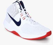 82a302dc0b7 Nike Air Precision White Basketball Shoes for Men online in India at ...