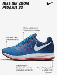 b0fa384d7772 Nike Air Zoom Pegasus 33 Blue Running Shoes for women - Get stylish ...