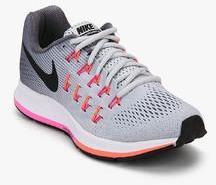 Nike Air Zoom Pegasus 33 Grey Running Shoes women
