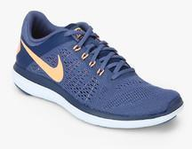 1d7a70c393ea Nike Flex 2016 Rn Blue Running Shoes for women - Get stylish shoes for  Every Women Online in India 2019