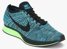 b966de9e9ea4f Nike Flyknit Racer Blue Running Shoes for women - Get stylish shoes ...
