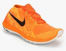 great quality special section size 7 Nike Free 3.0 Flyknit Orange Running Shoes men