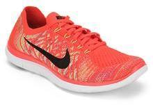 timeless design a8232 7d39d Nike Free 4.0 Flyknit Orange Running Shoes for Men online in ...