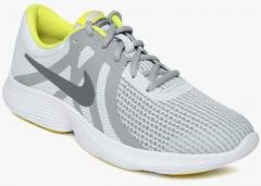 best sneakers 6414f 3b7f4 Nike Grey   White Revolution 4 Running Shoes boys