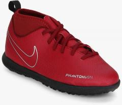 05b3b3a51 Nike Jr Phantom Vsn Club Df Tf Red Football Shoes for girls in India - Buy  at Lowest price May