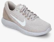 0c917c31b0585 Nike Lunarglide 9 Beige Running Shoes for women - Get stylish shoes ...