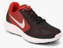 bd98ec39390 Nike Revolution 3 Black Running Shoes boys