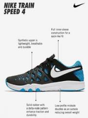 5cc705dacdc1 Nike Train Speed 4 Black Training Shoes for Men online in India at ...