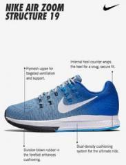 904695 004 Nike Air Zoom Structure 21 Vast GreyAtmosphere GreyAegean StormThunder Blue