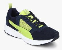 cheap for discount 48121 c4920 Puma Deng Idp Peacoat Limepunch Navy Blue Running Shoes men