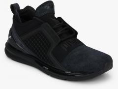 on sale 6523b 8ff46 Puma Ignite Limitless Brushed Suede Black Sneakers women