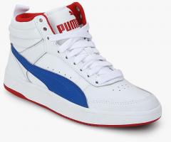 fc7e2d4275a0 Puma Rebound Street V2 L Jr White Sneakers for Boys in India May ...