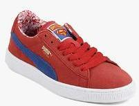 meet 7789d aa905 Puma Suede Superman Red Sneakers for girls in India - Buy at ...