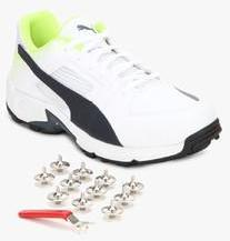 94813bed62a7a3 Puma Team Full Spike White Cricket Shoes for Men online in India at Best  price on 1st April 2019