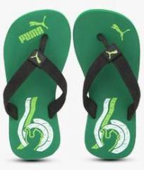710c9391f Puma Wave Jr Dp. Green Flip Flops for Boys in India April