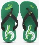 Puma Wave Jr Dp. Green Flip Flops Girls