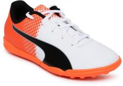 7ead3f7a7a6d4 Puma White   Orange evoSPEED 5.5 TT JrFootball Shoes for girls in India -  Buy at Lowest price April