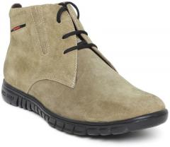 Red Chief Olive Green Solid Leather Mid Top Flat Boots for Men online in  India at Best price on 23rd March 2019 ca11956bcea