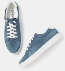 Roadster Blue Washed Denim Sneakers for