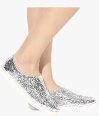 Shoe Couture Silver Glitter Casual Sneakers women