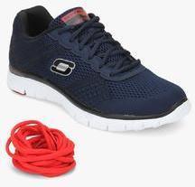 Skechers Flex Advantage Covert Action Navy Blue Running Shoes men