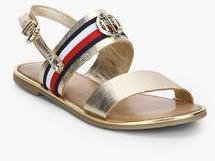 8a1c725ba481 Tommy Hilfiger Corporate Ribbon Golden Sandals for women - Get ...