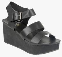 Truffle Collection Black Wedges women