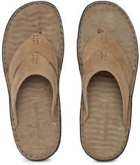 Woodland Khaki Leather Sandals for Men