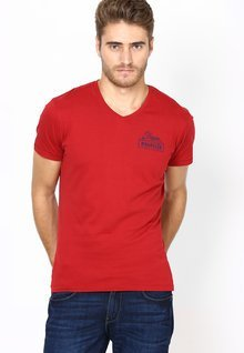 Wrangler Red V Neck T Shirt For Men Price Best Buy Price In India