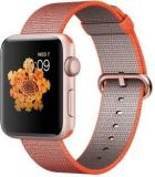 Apple Watch Series 2 42 Mm Rose Gold Aluminum Case With Space Orange / Anthracite Woven Nylon Band Smartwatch