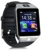CREATION4U C4U DZ 331 Bluetooth With Built In Sim Card And Memory Slot Compatible All Android Mobiles Silver Smartwatch