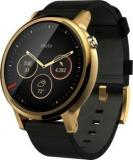 Motorola Moto 360 2nd Gen For Men Gold Black Leather Smartwatch