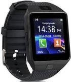 Oxhox EC111 With SIM And 32 GB Memory Card Slot And Fitness Tracker Black Smartwatch